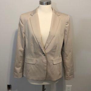 NWT Ann Taylor Single Button Blazer Size 10 Tan